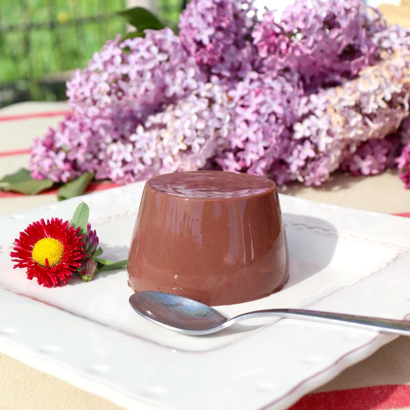 Budino di capra al cioccolato